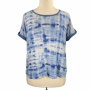 Lucky Brand Tie Dye Print Short Sleeve Sleep Tee